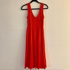 Anthropologie Maeve Abroad Red Midi Dress